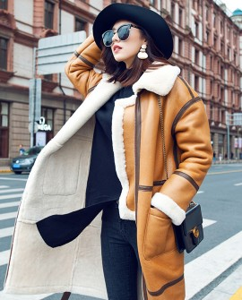 Merino Shearling Sheepskin Long Coat