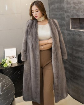 3/4 Length Mink Fur Coat