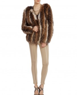 Raccoon Fur Knitted Jacket