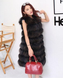 3/4 Length Raccoon Fur Vest
