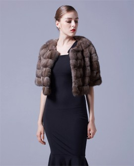 Sable Fur Bolero Cropped Jacket