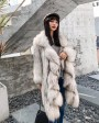 3-4 Length Knitted Raccoon Fur Coat 922f