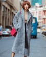 3-4 Length Shearling Lambwool Coat 701 Gray-2