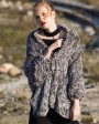 Chinchilla Fur Knitted Cape 045c
