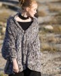 Chinchilla Fur Knitted Cape 045e