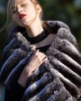 Chinchilla Fur Shawl, Cape Stole 675a_2