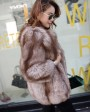 Chocolate Fox Fur Jacket 003d