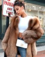 Chocolate Fox Fur Jacket 265f