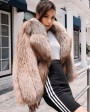 Cropped Chocolate Fox Fur Jacket 271c