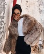 Cropped Chocolate Fox Fur Jacket 271g