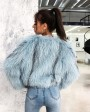 Cropped Knitted Fox Fur Jacket 275d