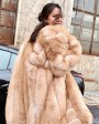 Fox Fur Long Coat 0053be
