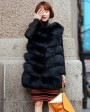 Fox Fur Vest 691 Black 1