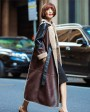 Full Length Shearling Sheepskin Coat 697 Coffee-2