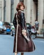 Full Length Shearling Sheepskin Coat 697 Coffee-4