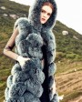 Hooded Long Fox Fur Vest 294b