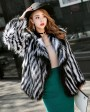 Knitted Fox Fur Jacket 977b