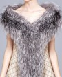 Knitted Fox Fur Shawl 823b