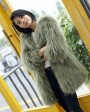 Knitted Raccoon Fur Coat 772 Green 2