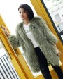 Knitted Raccoon Fur Coat 772 Green 3