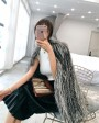 Knitted Silver Fox Fur Coat 0020d