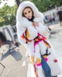 Long Length Knitted Fox Fur Coat 925c