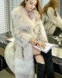 Long Length Knitted Fashion Fox Fur Coat 981d