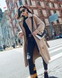 Merino Shearling Sheepskin Long Trench Coat 111b