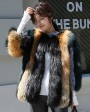 Multicolored Fox Fur Jacket 002a