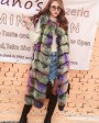 Multicolored Fox Fur Vest 928b