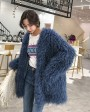 Oversized Knitted Lamb Fur Coat 0041a