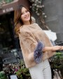 Pollover Rex Rabbit Fur Blouse Jacket 760 Camel 2