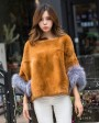 Pollover Rex Rabbit Fur Blouse Jacket 760 Khaki 1