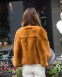 Pollover Rex Rabbit Fur Blouse Jacket 760 Khaki 4