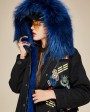 Raccoon Fur Trimmed Hooded Parka with Detachable Liner 128d