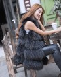 Raccoon Fur Vest 824 Black 4