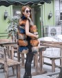 Raccoon Fur Vest 824 Multi 5