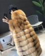 Red Fox Fur Coat Long Style in Natural Golden 0042f