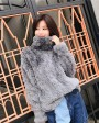 Rex Rabbit Fur Knitted Pullover Sweater Jacket 343b