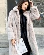 Rex Rabbit Fur Long Coat Beige 0036gc