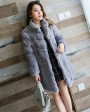 Sheared Rabbit Fur Jacket 720 Gray 6