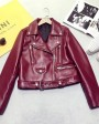 Sheepskin Real Leather Biker Jacket 022g
