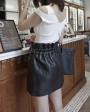 Sheepskin Real Leather Waistbelted Skirt 017c