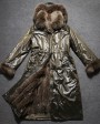 Women's Full Length Hooded Parka with Detachable Liner with Fox-Fur-Trimmed throughout_4