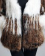 Women's Knitted Raccoon Fur Coat 594_10