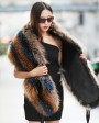 Women's Raccoon Fur Shawl 406_2