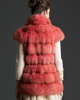 Candy Red Sable Fur Vest