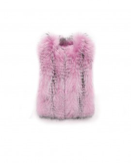 Cropped Raccoon Fur Vest
