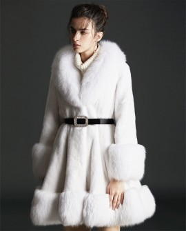 Mink Fur Coat With Fox Fur Trim