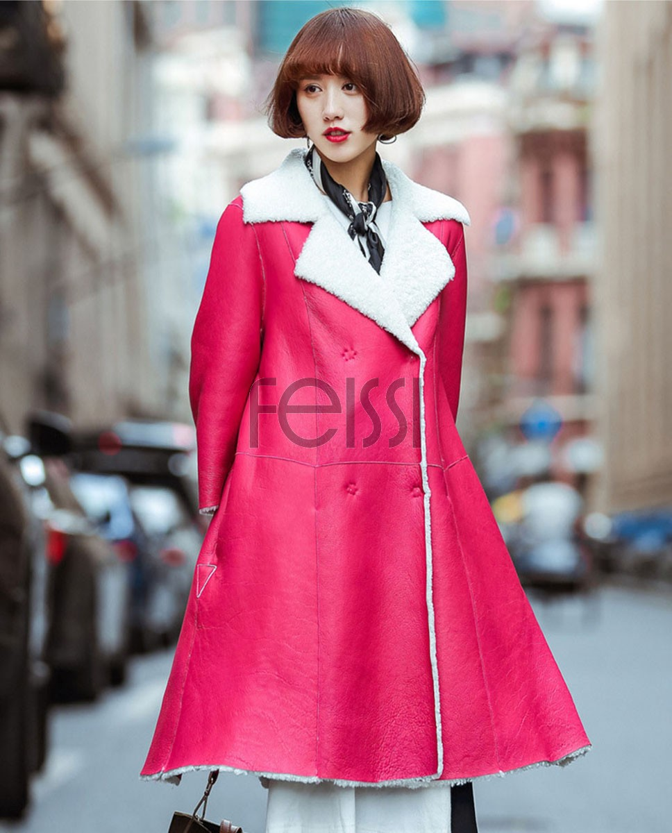 3-4 Length Shearling Lambskin Coat 703-1